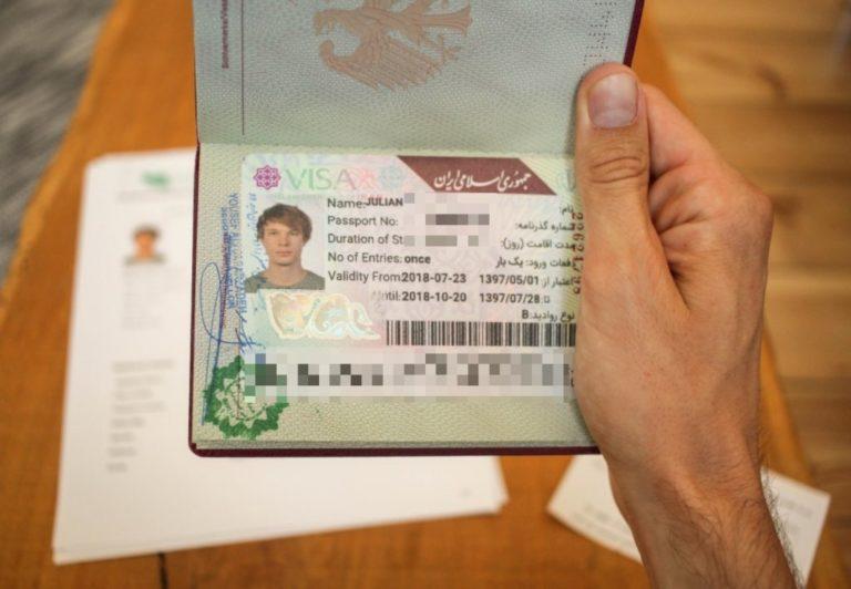 Iran Visa Visum Stempel